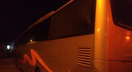 Samsunspor otobüsüne Adanada taşlı saldırı