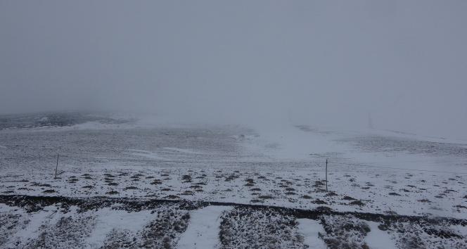 Ardahan'da Mayıs'ta kar sürprizi