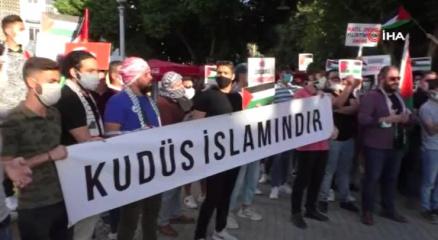 KKTCde Filistine destek protestosu düzenlendi