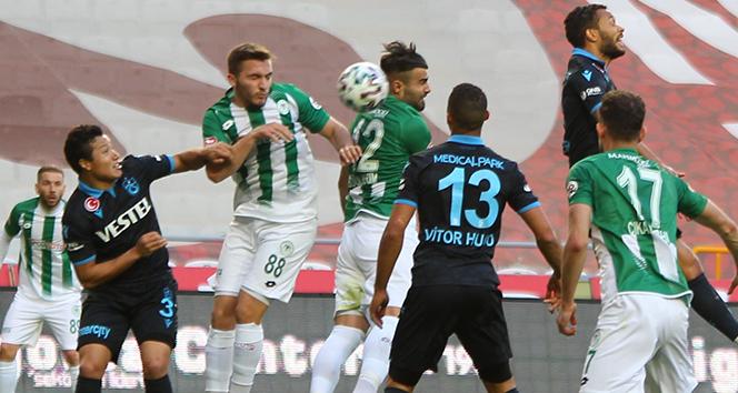 Konyaspor ile Trabzonspor puanları paylaştı