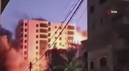 İsrail, Gazzede 13 katlı binayı vurdu