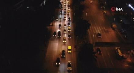Kudüse destek olmak için binlerce araçtan oluşan konvoy düzenlendi