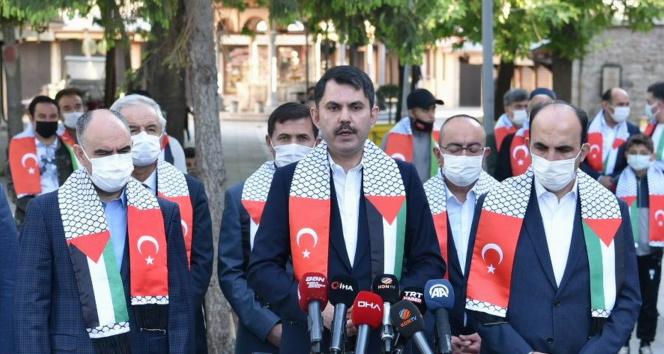 Bakan Kurum: 'İsrail'in bu eylemleri yanına kalmayacaktır'