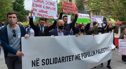 Kosovalılardan Filistin halkına destek yürüyüşü
