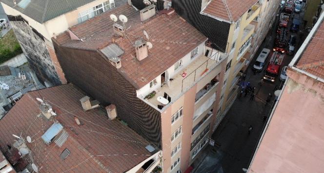 Şişli'de bir bina çökme tehlikesi nedeniyle boşaltıldı!