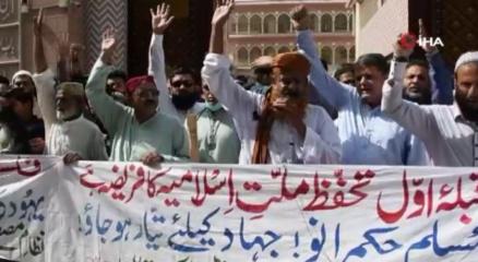 Pakistanda Filistine destek gösterisi düzenlendi