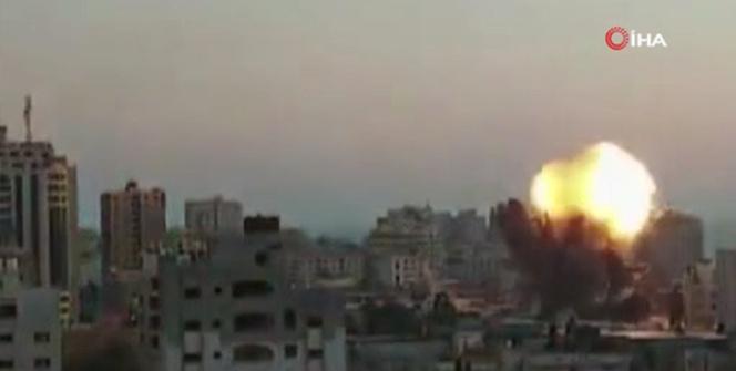 İsrailin Gazzeye yönelik hava saldırıları devam ediyor