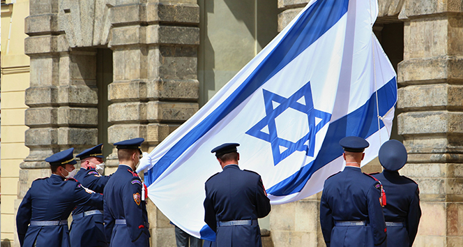 Çekya, Prag Kalesine İsrail bayrağı astı