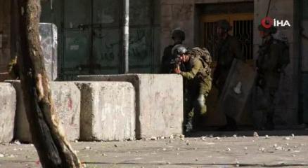 İsrail güçleri El Halilde Filistinlilere müdahale etti
