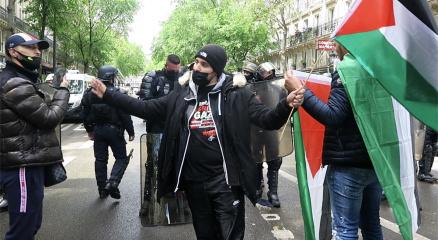 Pariste Filistine destek gösterisi