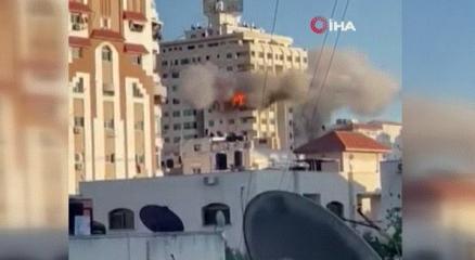 İsrail, Gazzede çok katlı bir binayı daha hedef aldı