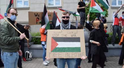 Polonyada Filistine destek gösterisi