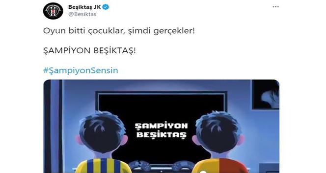 Beşiktaş'tan rakiplerine gönderme!