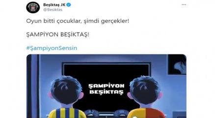Beşiktaştan rakiplerine gönderme!