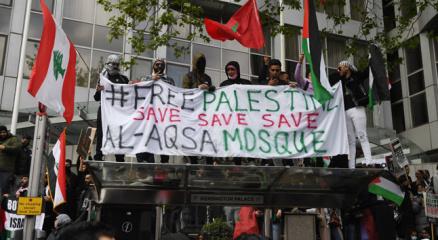 Londrada İsrail karşıtı protesto