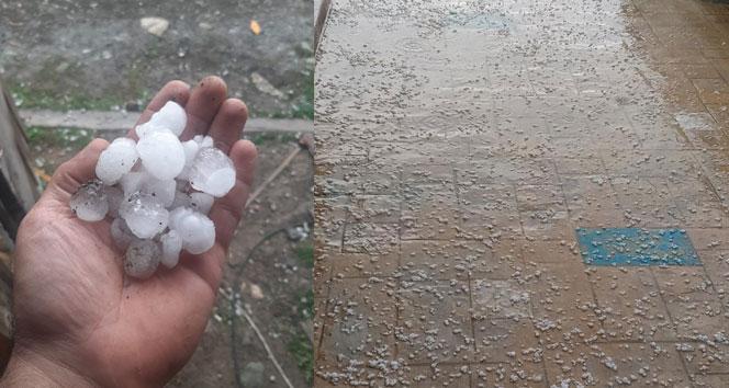 Kastamonu'da dolu yağışı etkili oldu