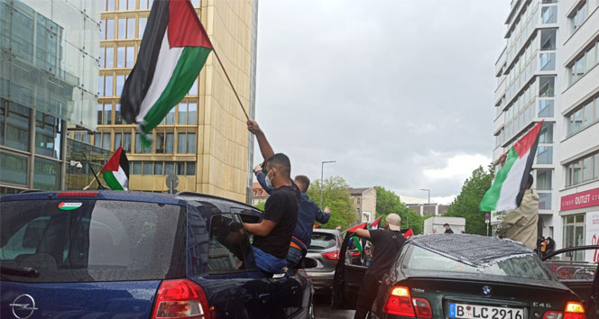 Berlin'de Filistin'e destek