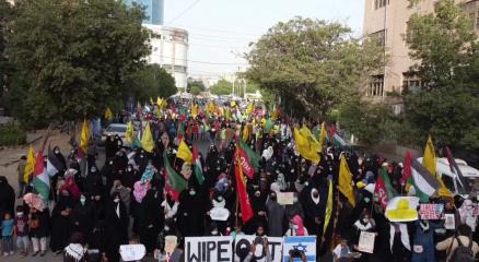 Pakistanda Filistine destek protestoları devam ediyor