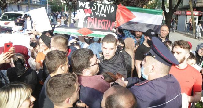 Arnavutluk'ta Filistin'e destek protestosuna polis müdahalesi