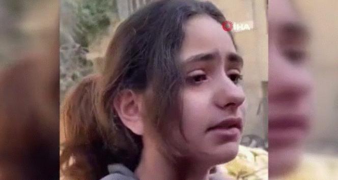 Filistinli kızdan yürek burkan soru: 'Neden füze atarak çocukları öldürüyorsunuz'