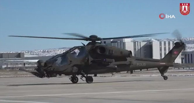 Yeni Atak helikopterleri Emniyet Genel Müdürlüğü'ne teslim edildi