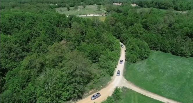 Kırklareli'nde ormandaki kaçak yapılar drone ile tespit edildi