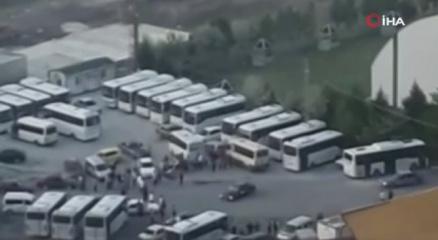 Asker uğurlama konvoyunda drift yapan sürücüler yürekleri ağza getirdi