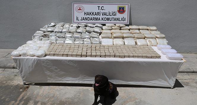 Yüksekova'da 181 kilogram uyuşturucu ele geçirildi