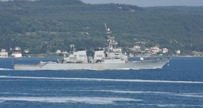 ABD savaş gemisi Çanakkale Boğazı'ndan geçti!