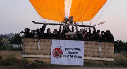 Kapadokyada jandarmanın kuruluşunu 182.yıldönümü gökyüzünde kutlandı