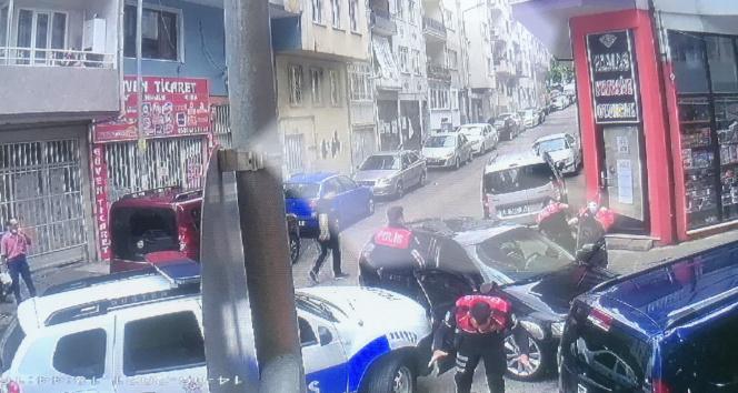 Dur ihtarına uymayarak polise çarpan sürücü böyle yakalandı