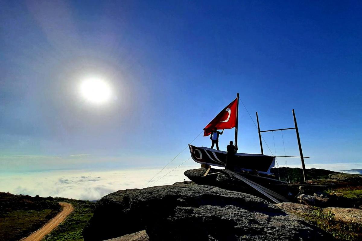 Karadenizli teknelerini, kayıklarını dağlara taşımaya başladı
