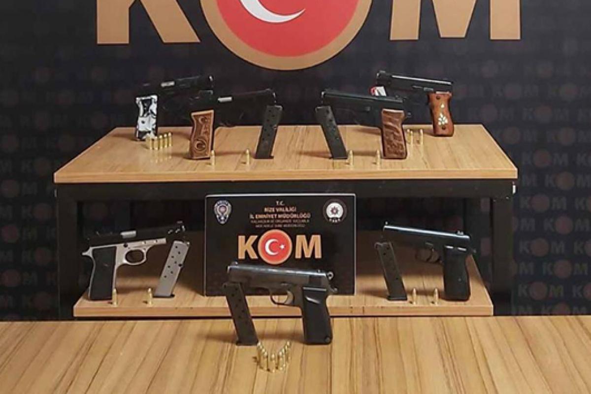 Rize'de silah kaçakçılığı operasyonu