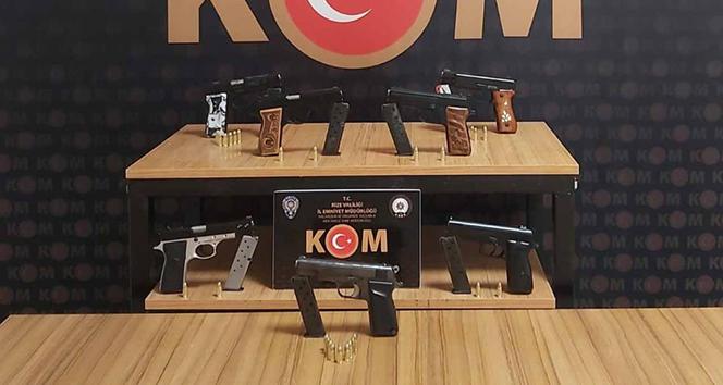 Rizede silah kaçakçılığı operasyonu