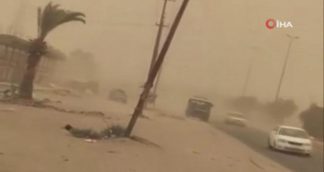 Irakın güneyini kum fırtınası vurdu