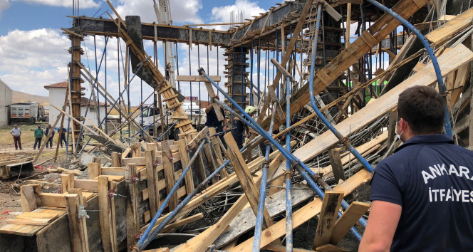 Başkentte inşaatta göçük: 2 yaralı