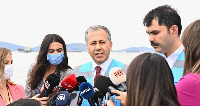 Vali Yerlikaya:18 Haziran itibariyle İstanbulumuzda bin 361 metreküp müsilaj temizlendi