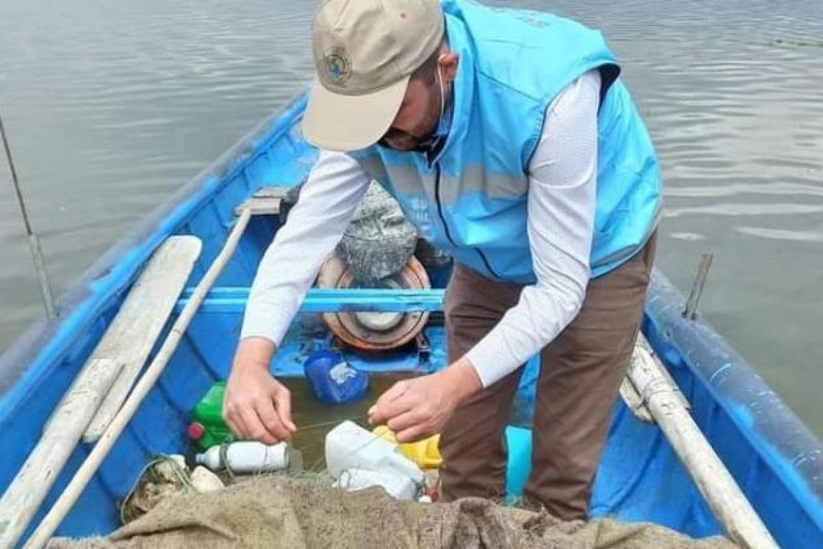 Eğirdir Gölü'nde kaçak ava 19 bin 856 lira para cezası