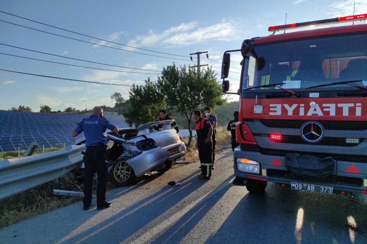 Kuşadası'nda trafik kazası: 1 ölü, 1 ağır yaralı