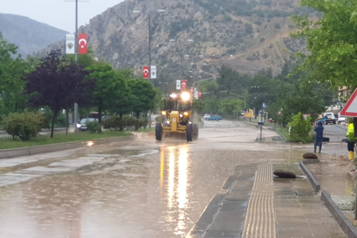 Ankara'nın Nallıhan ilçesinde sağanak yağış