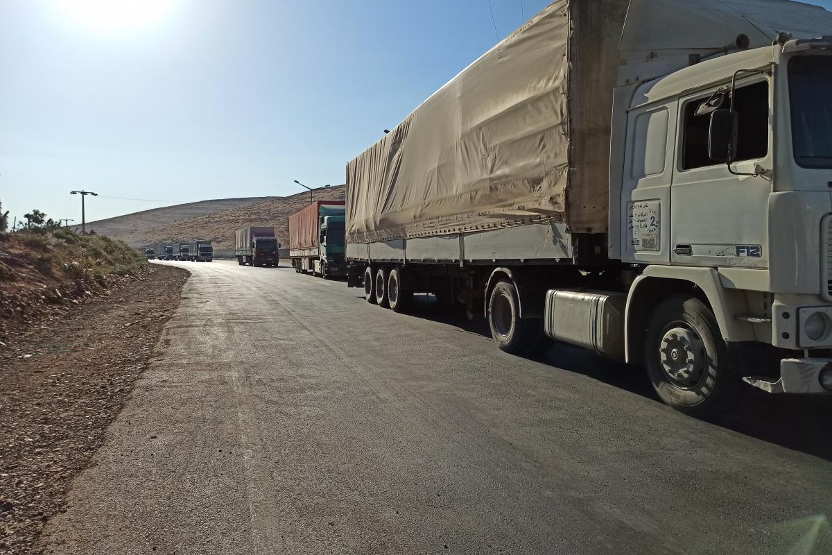 BM'den İdlib'e 74 tır yardım gönderildi