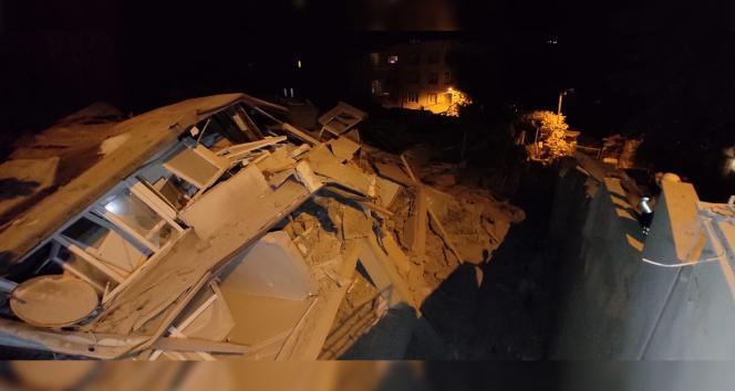 Sarıyerde 9 katlı bina çöktü