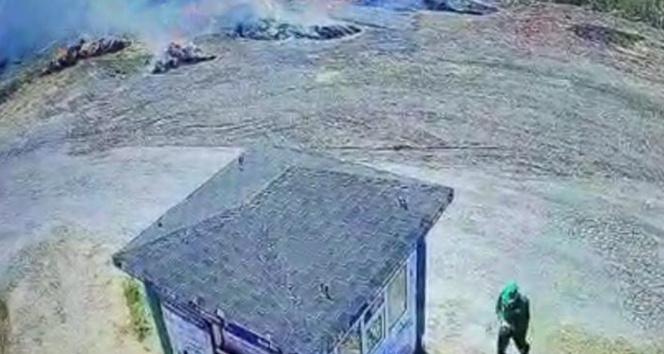 Bursada ormanlık alanda çıkan yangına temizlik işçisi sebep olmuş