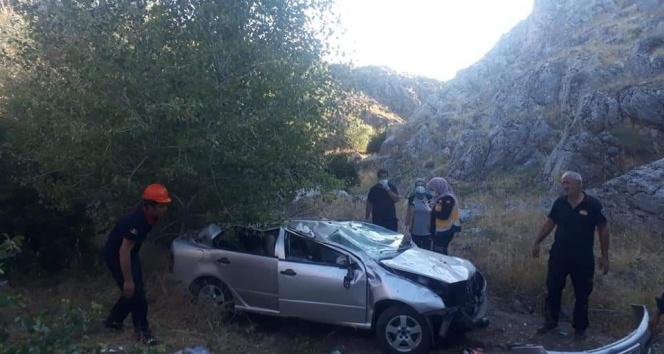 Malatyada feci kaza: 1 polis öldü, 1 polis yaralandı