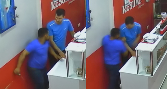 Zonguldakta dehşet anları: Beni hatırladın mı deyip böyle saldırdı