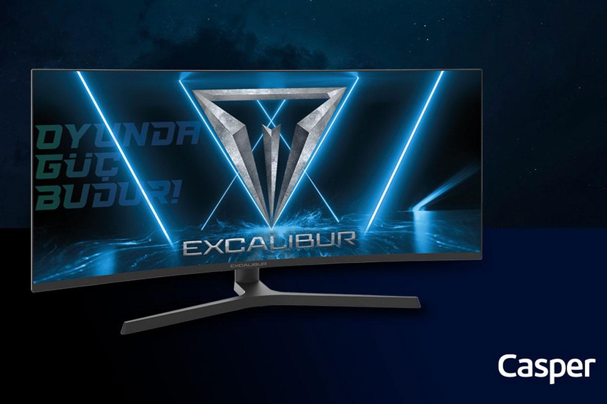 Casper yeni Excalibur monitörü ile oyun oynamayı daha keyifli, çalışmayı daha verimli hale getiriyor