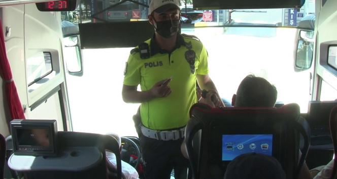 Kurban Bayramı öncesi otogarda otobüs denetimi
