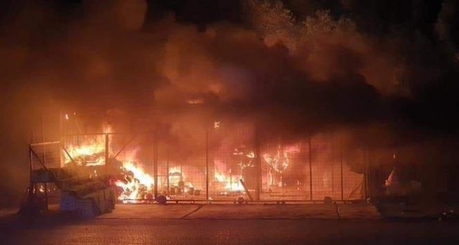 Irakta İmam Ali Askeri Hava Üssünde yangın