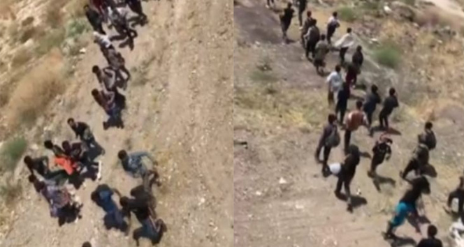 Vanda arazide yürüyerek ilerleyen 113 düzensiz göçmen yakalandı