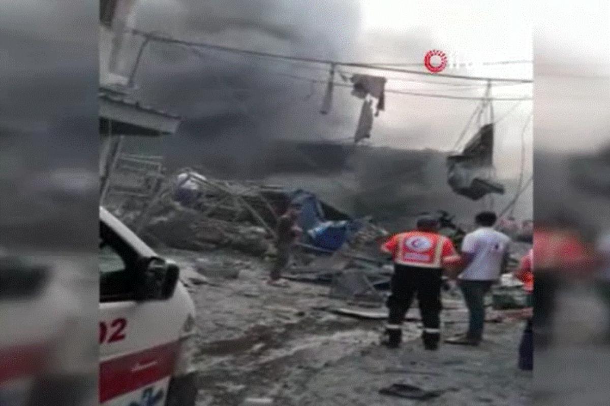 Gazze'de pazar alanında patlama: 1 ölü, 10 yaralı